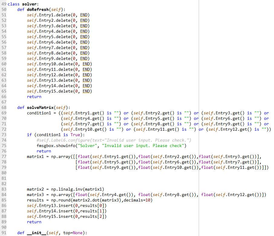 Equation solver (GUI) using Python Tkinter - Sajeewa Pemasinghe