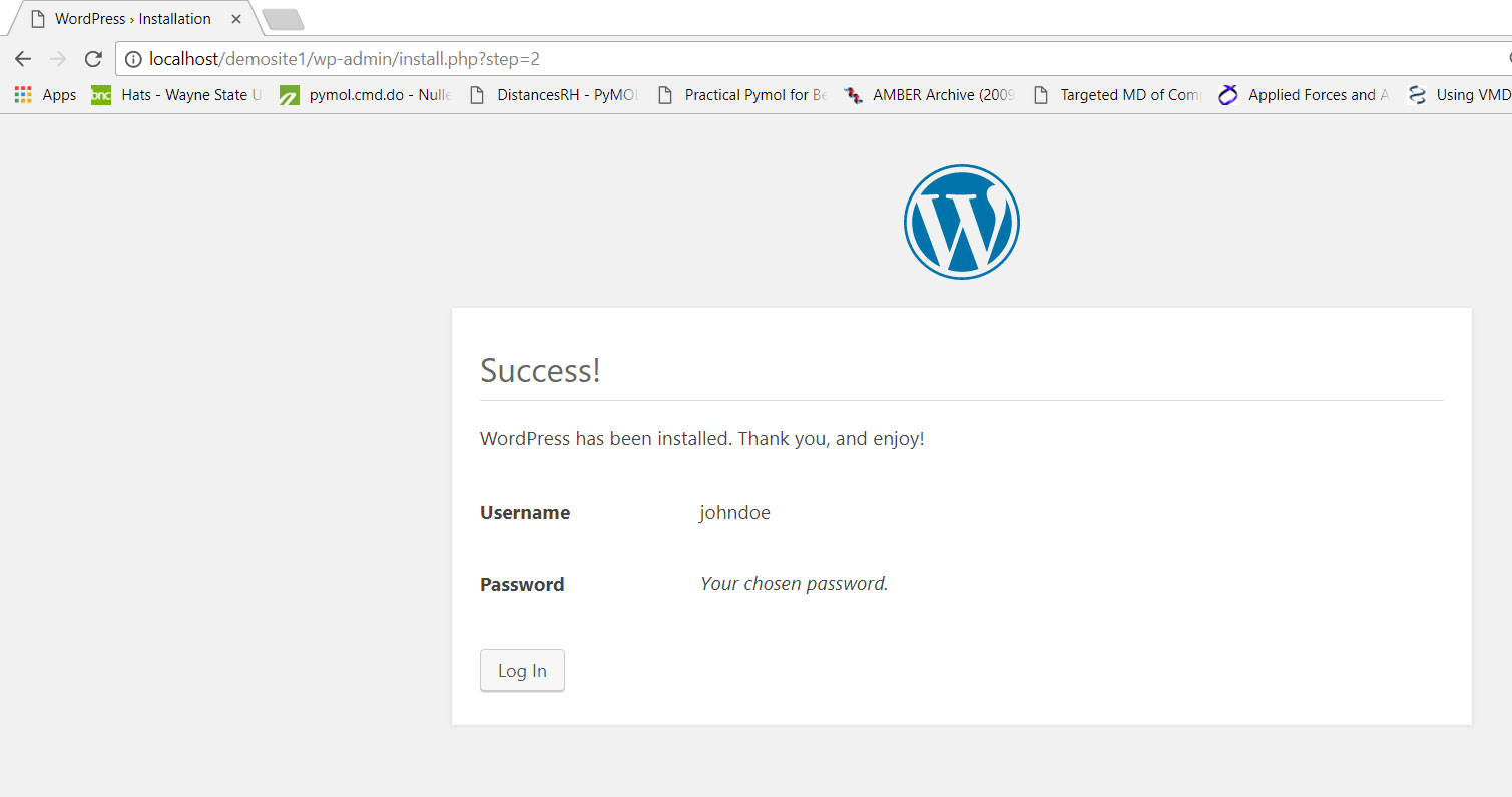 Step by step guide for a local installation of WordPress - S